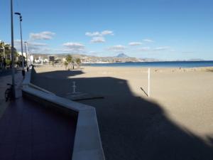 Empty beaches on the Costa Blanca